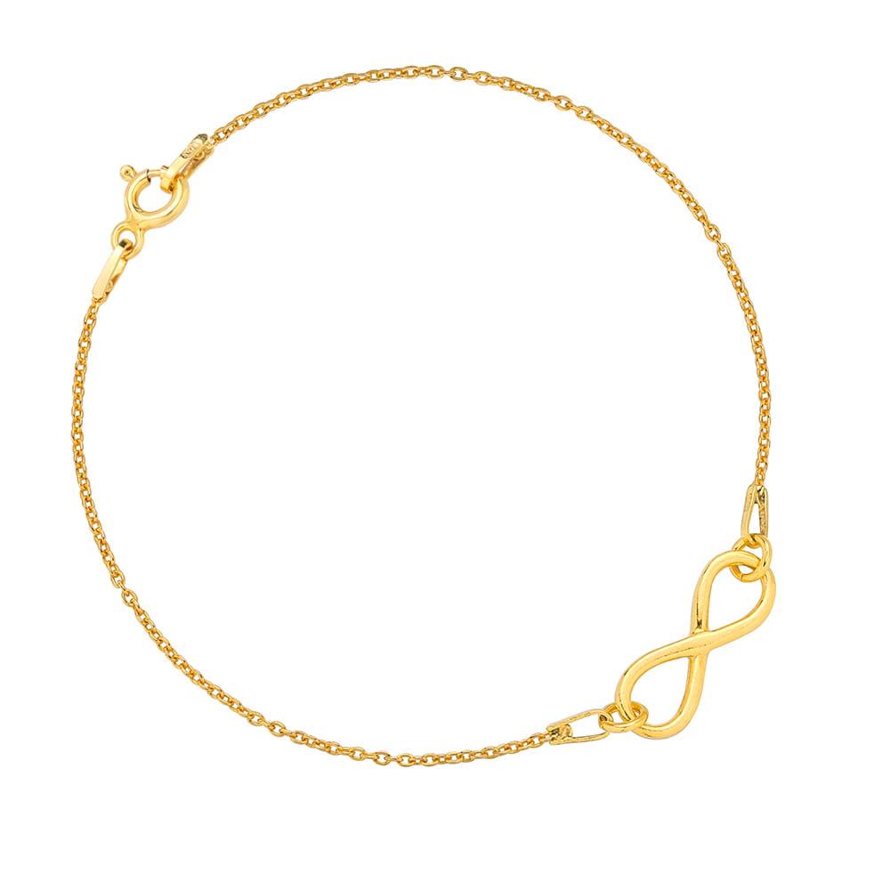 fd24fe03aa463a Bransoletka celebrytka z symbolem nieskończoności złota ...